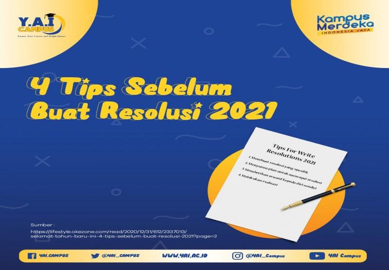 4 Tips Sebelum Buat Resolusi 2021
