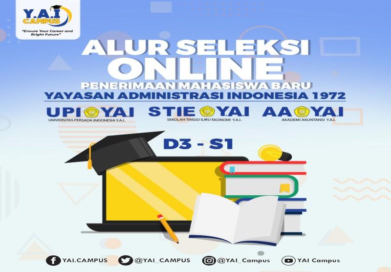 Alur Seleksi Penerimaan Mahasiswa Baru Program Diploma (D3) atau Program Sarjana (S1) di Lembaga Pendidikan Tinggi Y.A.I  (UP