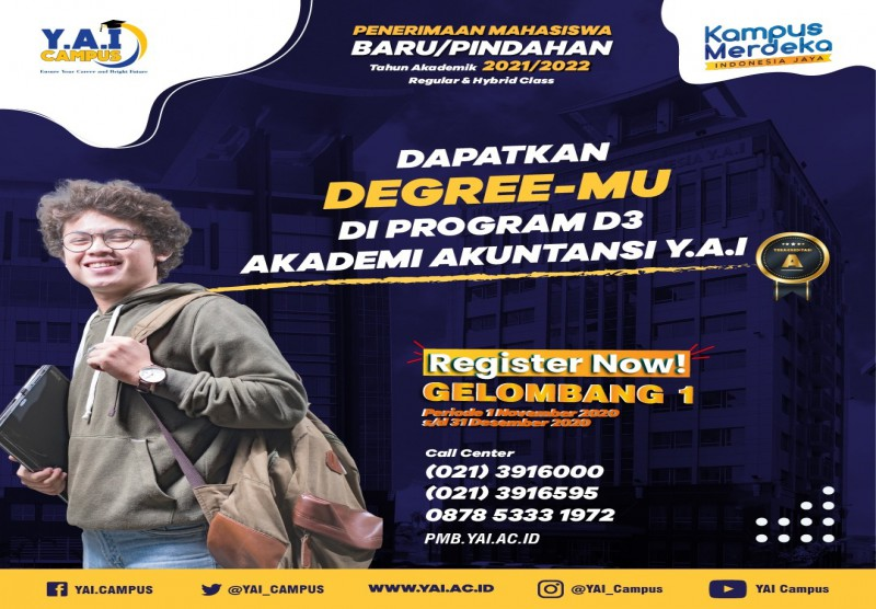 Dapatkan Degree-Mu di Program D3 Akademi Akuntansi Y.A.I