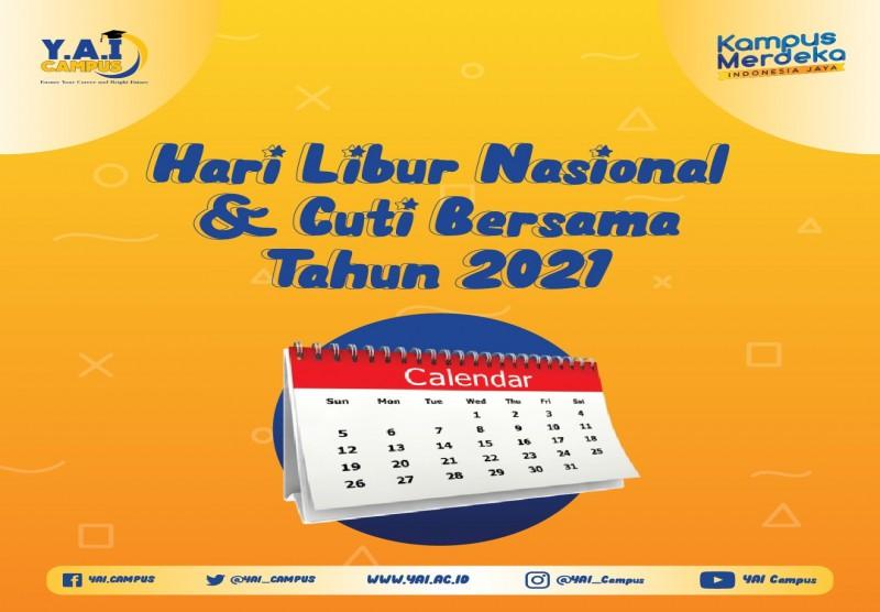 Hari Libur Nasional dan Cuti Bersama Tahun 2021