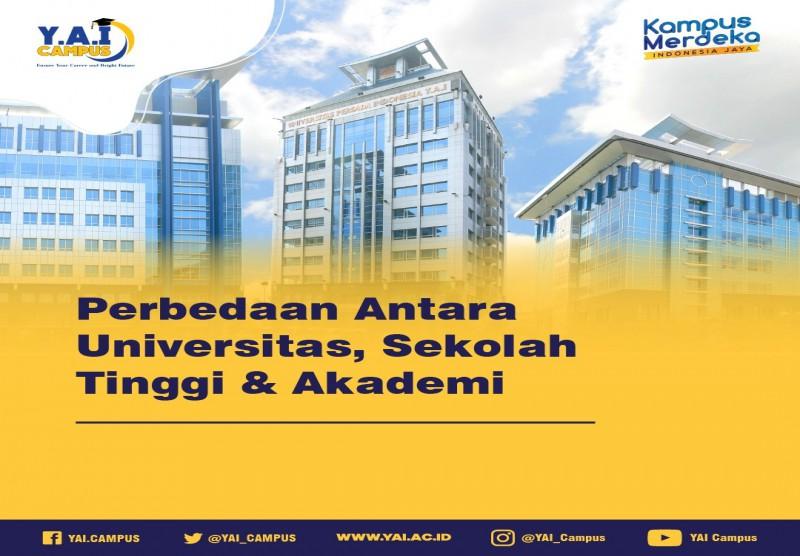 Perbedaan Antara Universitas, Sekolah Tinggi dan Akademi
