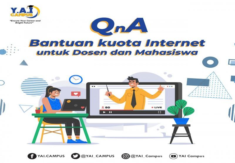 QnA Bantuan Kuota Internet untuk Dosen dan Mahasiswa